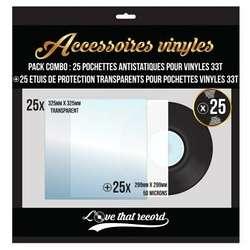 PACK COMBO POCHETTES DE PROTECTION POUR 33 TOURS