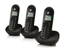 PACK 3 TELEPHONES T103L SANS FIL NOIR