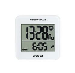 REVEIL LCD BLA210 REGLAGE HEURE AUTOMATIQUE BLANC