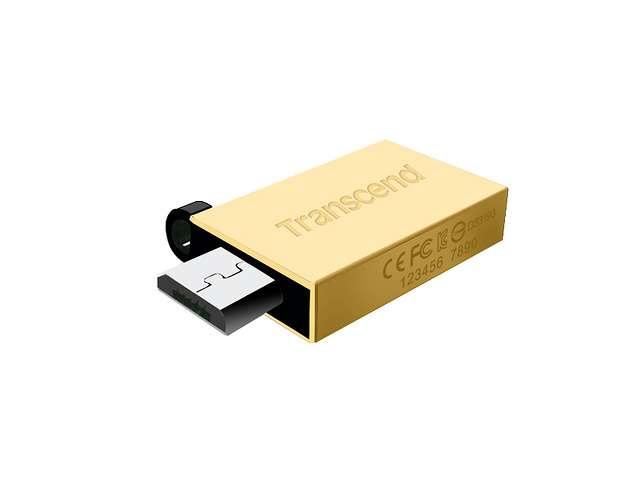 CLE USB 32 GO SERIE 380 GOLD USB 2.0 + OTG POR TABLETTE ts32gjf380g-31