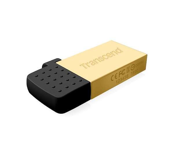 CLE USB 16 GO SERIE 380 GOLD USB 2.0 + OTG POUR TABLETTE ts16gjf380g-1