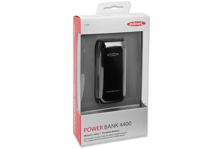 POWER BANK 4400 MAH 1A COMPACT SMARTPHONE TABLETTE NOIR 31886-2