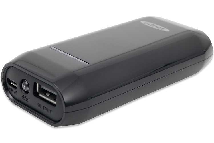 POWER BANK 4400 MAH 1A COMPACT SMARTPHONE TABLETTE NOIR 0