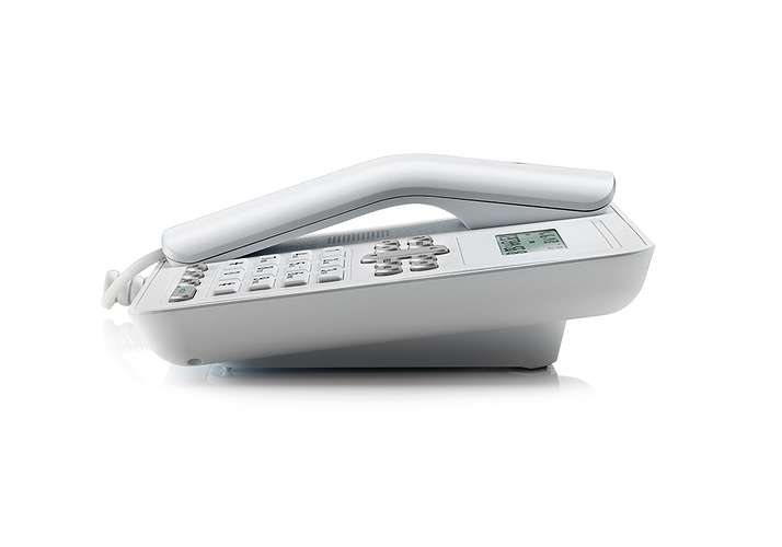 TELEPHONE CT320 FILAIRE AVEC KIT MAINS LIBRE BLANC ct320white-2