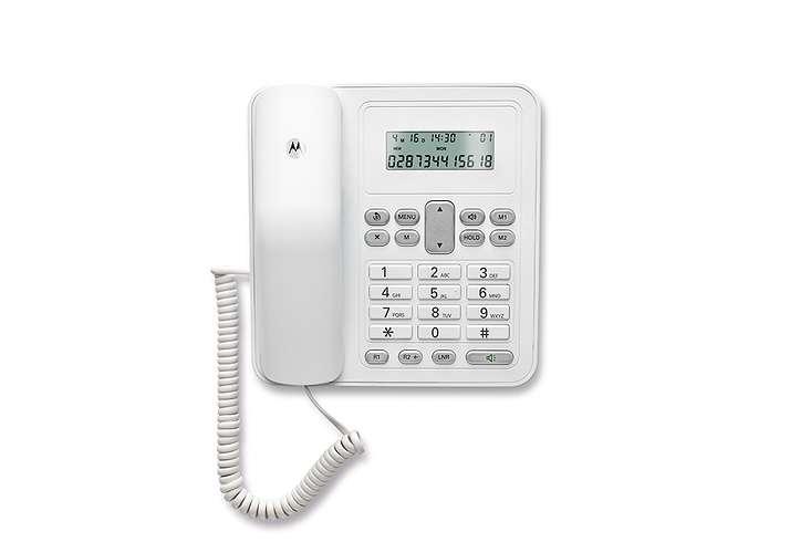 TELEPHONE CT320 FILAIRE AVEC KIT MAINS LIBRE BLANC ct320white-3
