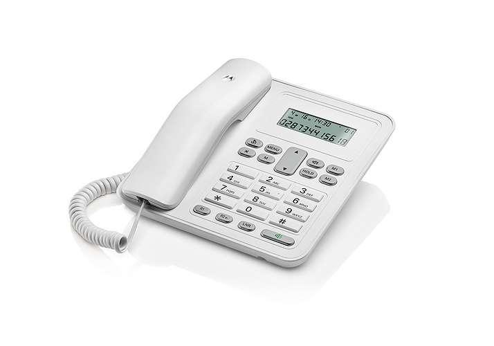 TELEPHONE CT320 FILAIRE AVEC KIT MAINS LIBRE BLANC 0