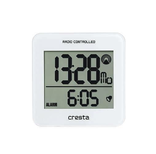 REVEIL LCD BLA210 REGLAGE HEURE AUTOMATIQUE BLANC 0