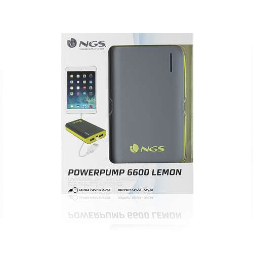 CHARGEUR POWERPUMP POUR TABLETTE 6600MAH GRIS/JAUNE powerpump6600lemon-3