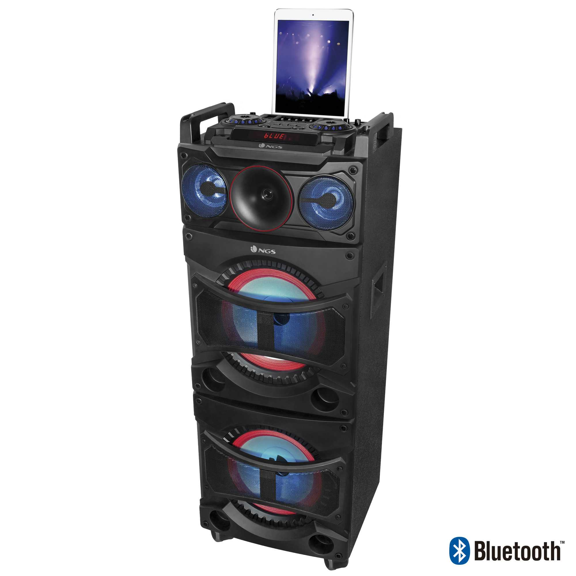 haut parleur wildhouse bluetooth puissance 100 watts rms noriak. Black Bedroom Furniture Sets. Home Design Ideas
