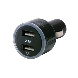 CHARGEUR ALLUME CIGARE 2 PORTS 2.1 + 1A BLISTER
