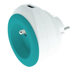 CHARGEUR BEWATT USB 2.4A + 16A -TURQUOISE