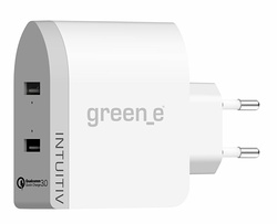 CHARGEUR SECTEUR INTUITIV TURBO 2 X 2.4A QUICK CHARGE