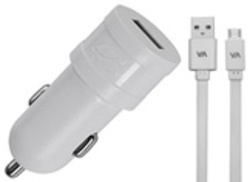 CHARGEUR VOITURE  1 X USB 1A BLANC + CORDON LIGHTNING MFI