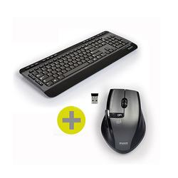 CLAVIER + SOURIS SANS FIL USB + TYPE C NOIR