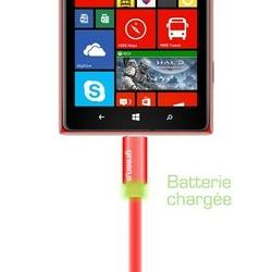 CORDON SYNCHRO + CHARGE MICRO USB 1.5M AVEC LED