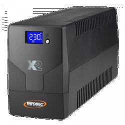 ONDULEUR X2 LCD TOUCH 1000 VA 2 PRISES FR + USB