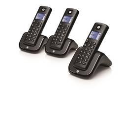 PACK DE 3 TELEPHONES SANS FIL T203plus DECT ESSENTIEL NOIR