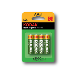 PILES RECHARGEABLES NI-MH 2100 MAH ALCALINE LR06 AA X 4