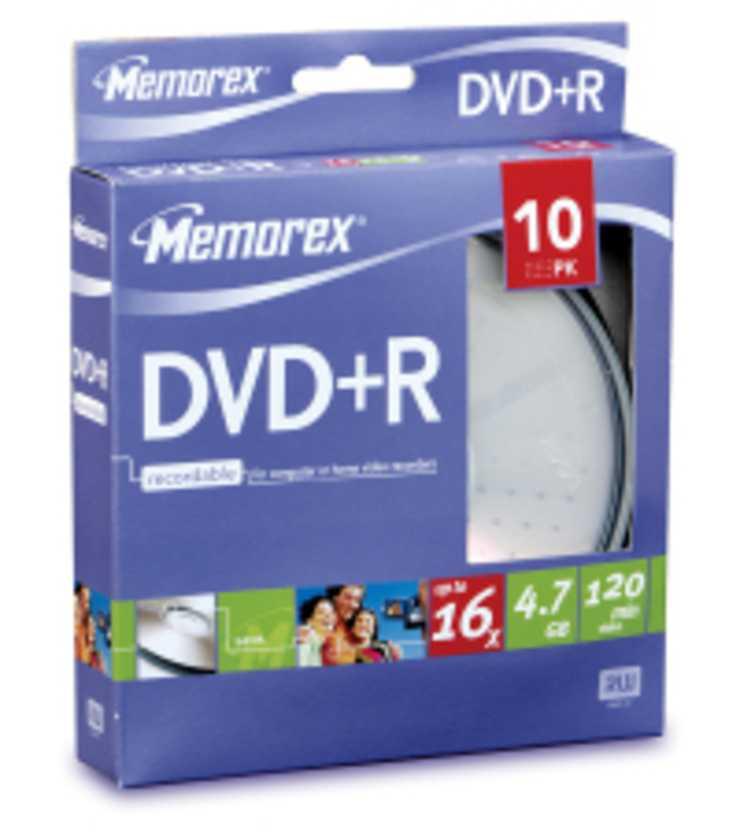 DVD+R 4.7 GO (16X) CAKEBOX PACK DE10 * 0