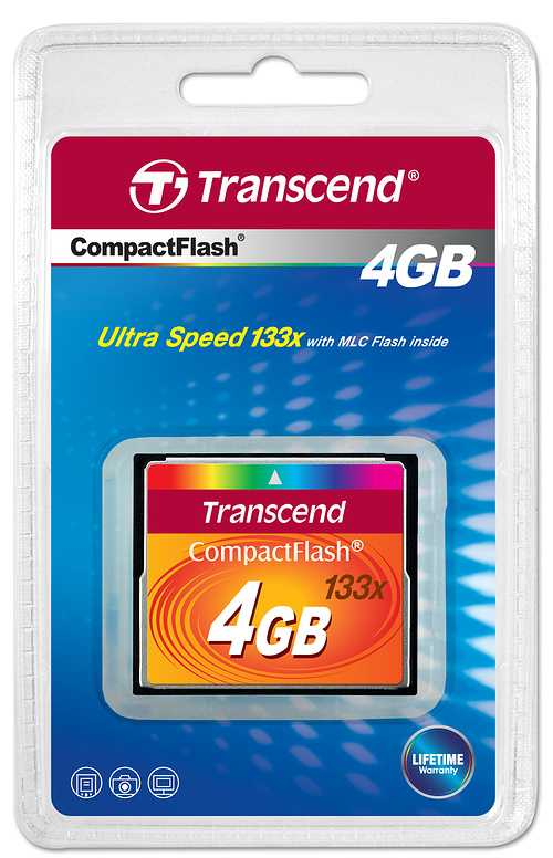 MEMOIRE COMPACT FLASH 4 GO - 133 X 0