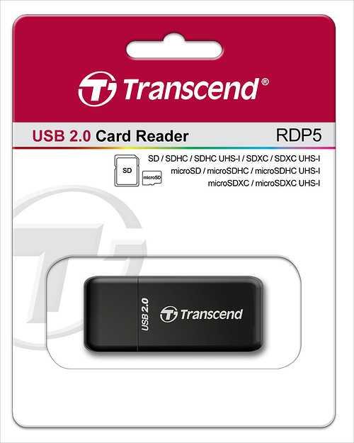 LECTEUR DE CARTE P5 - 12 EN 1 - PORT USB NOIR tsrdp5k-2