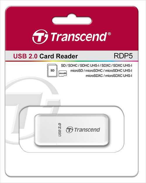 LECTEUR DE CARTE P5- 12 EN 1 PORT USB WHITE tsrdp5w-2