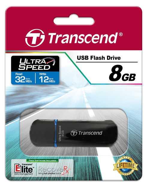 CLE USB 8GO SERIE 600 NOIR / BLEU USB 2.0 ULTRA SPEED ts8gjf600-2