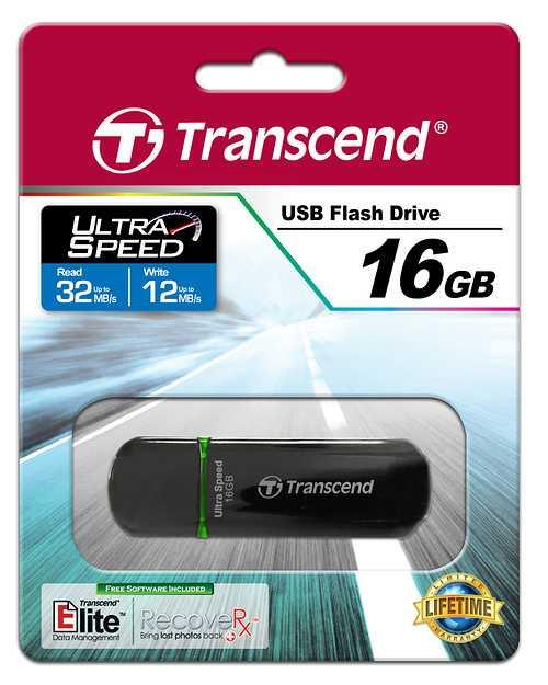 CLE USB 16GO SERIE 600 NOIR / VERT USB 2.0 ULTRA SPEED ts16gjf600-2