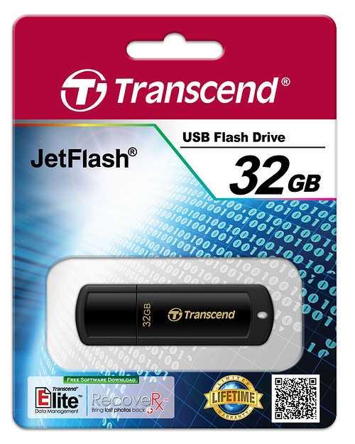 CLE USB 32GO SERIE 350 NOIR USB 2.0 ts32gjf350