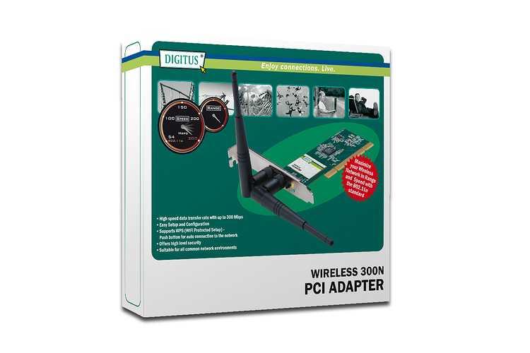 CARTE RESEAU PCI WIFI 300 MBPS dn70661-2