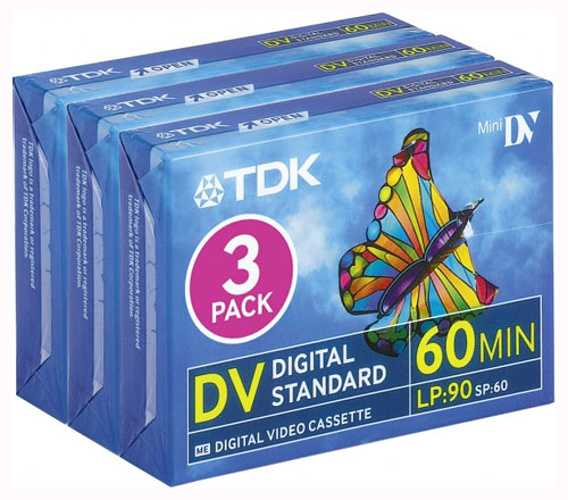 LOT DE 3 CASSETTES MINI DV DVM60 - 60 MIN 0