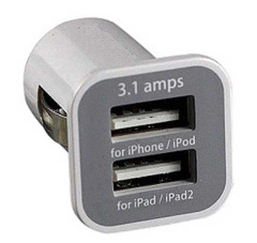 CHARGEUR ALLUME CIGARE CLEVERLINE USB AVEC CABLE LIGHTNING IPHONE 5 / MINI IPAD cvpwrdclgtn1