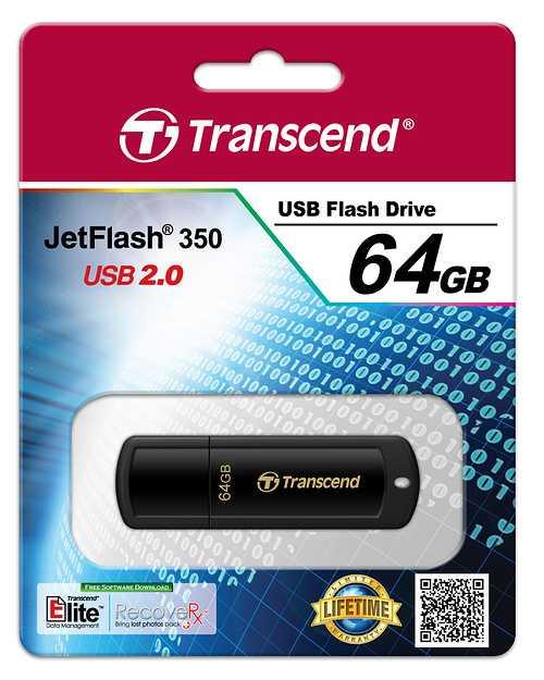 CLE USB 64GO SERIE 350 NOIR USB 2.0 ts64gjf350-2