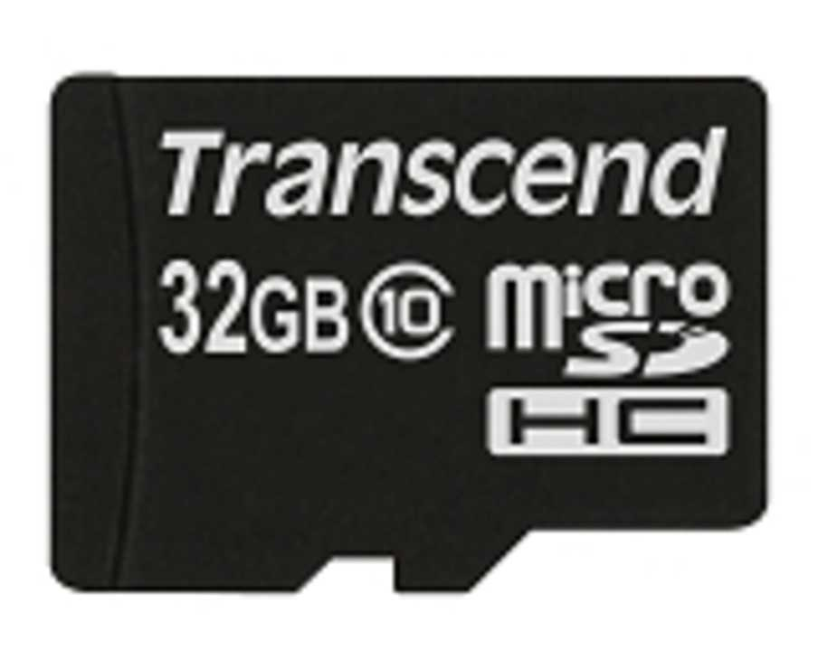 CARTE MEMOIRE MICRO SECURE DIGITAL TRANSCEND 32GO CLASS 10 0