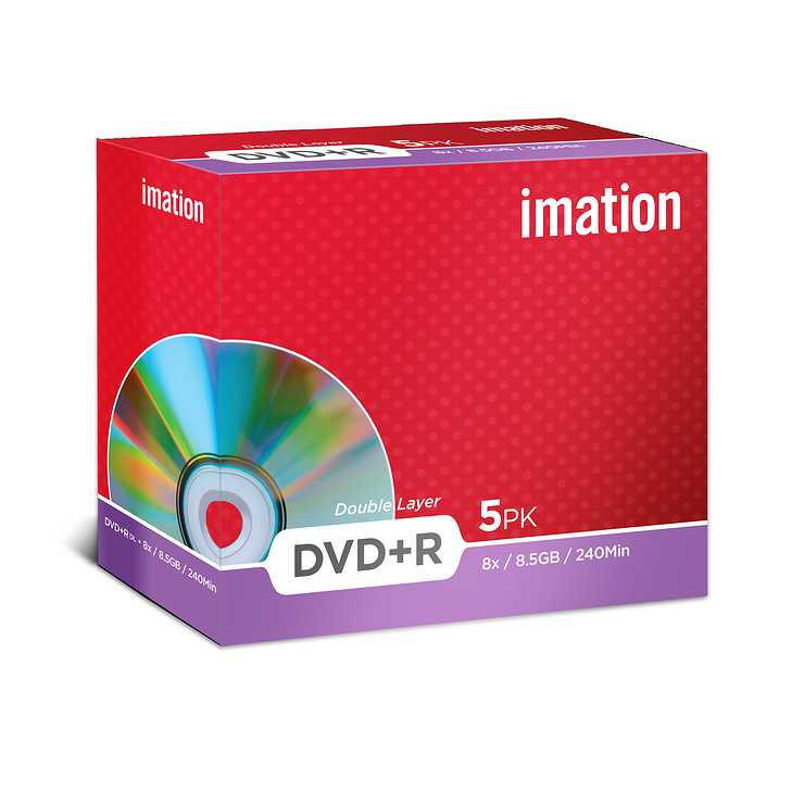 DVD+R IMATION 8.5 GO (8X) DOUBLE COUCHE SHOWBOX ( X5) 0