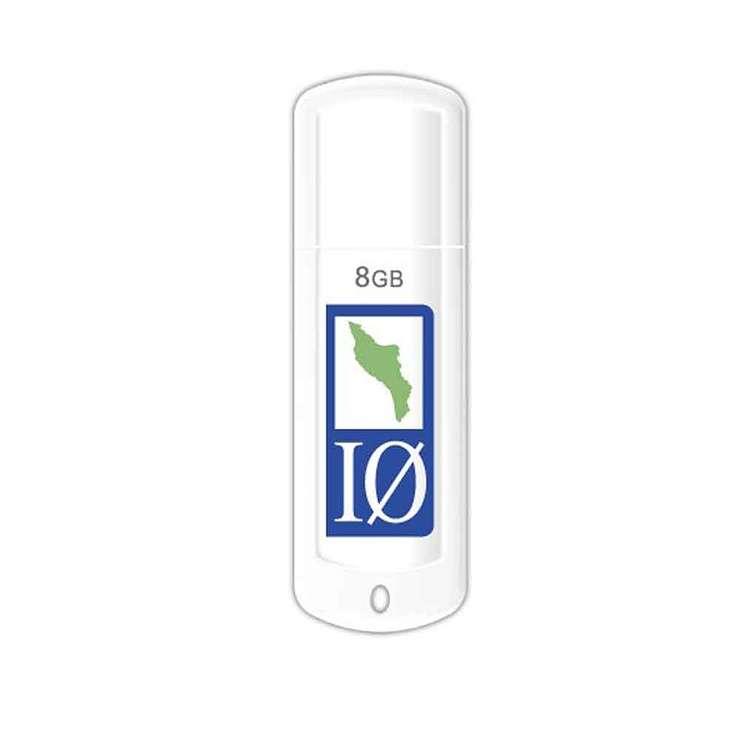 CLE USB 8 GO SERIE 370 BLANC GLOSSY USB 2.0 LOGO OLERON 0