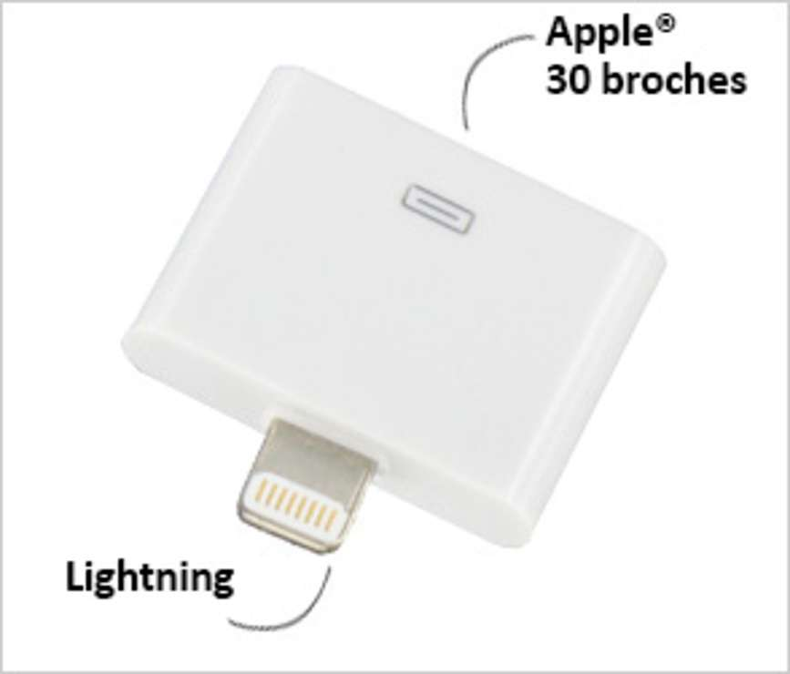 ADAPTATEUR 30 BROCHES/ LIGHTNING POUR IPHONE ET IPAD 0