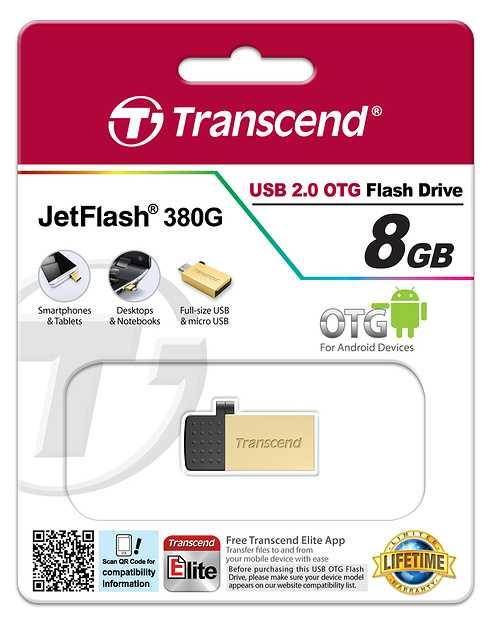CLE USB 8 GO SERIE 380 GOLD USB 2.0 + OTG ts8gjf380g