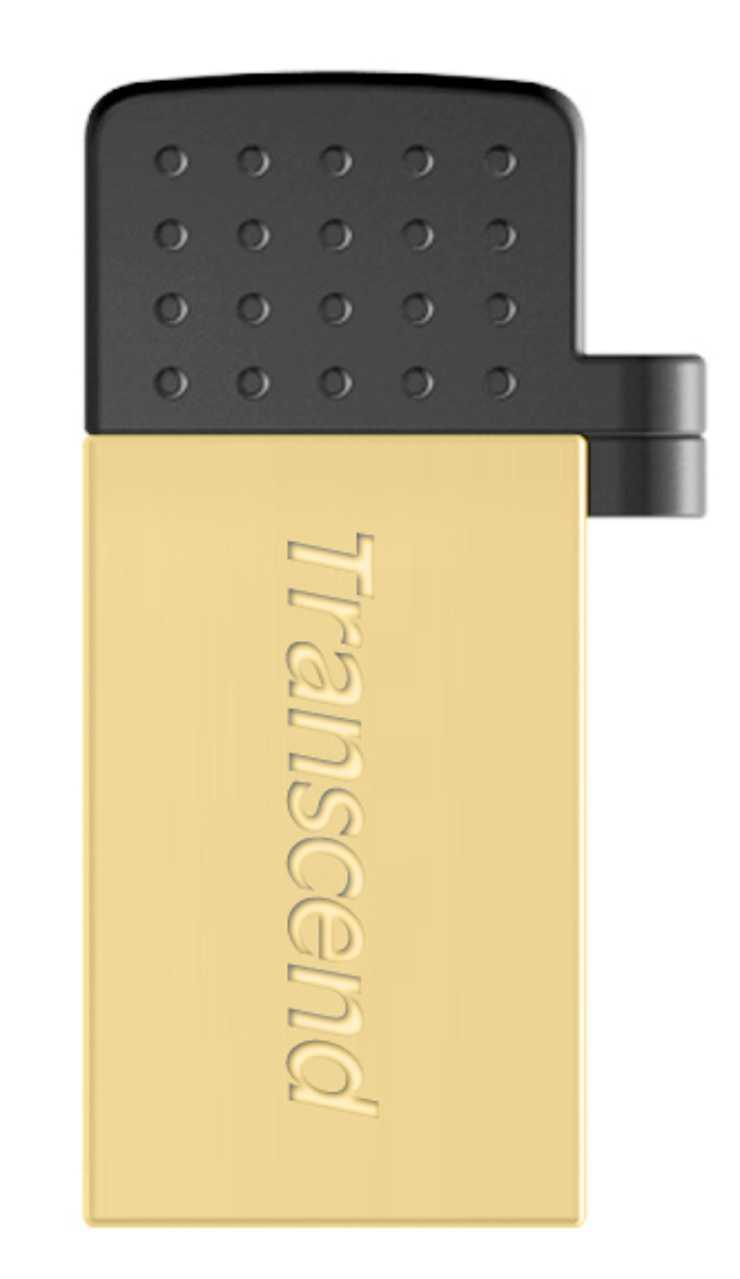 CLE USB 16 GO SERIE 380 GOLD USB 2.0 + OTG POUR TABLETTE ts16gjf380g-2
