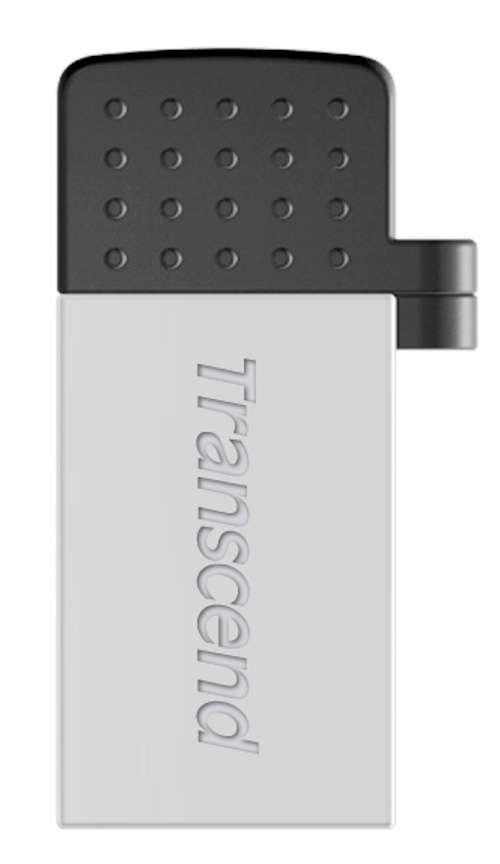 CLE USB 32 GO SERIE 380 SILVER USB 2.0 + OTG POUR TABLETTE ts32gjf380s-1