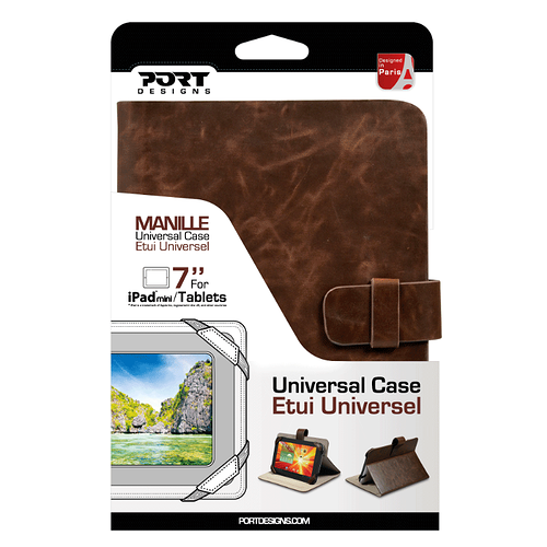 ETUI TABLETTE MANILLE 7'''' MARRON 201342-5