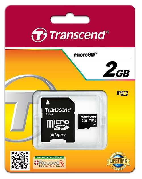 CARTE MEMOIRE MICRO SECURE DIGITAL 2GO+ ADAPTATEUR SD ts2gusd