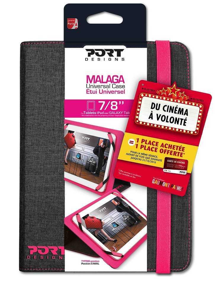 ETUI TABLETTE MALAGA 7/8'''' GRIS/ROSE 501689malaga7-8bts2014
