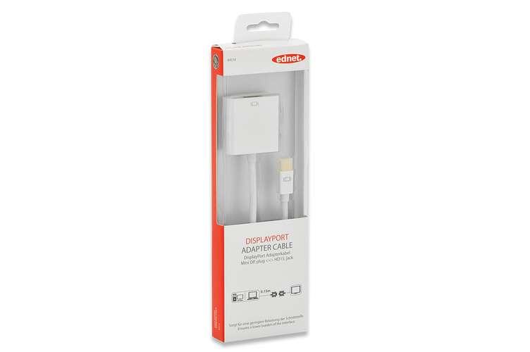 CORDON ADAPTATEUR MINI DISPLAY VERS VGA HD15 M/F BLANC 0.15M 84510-1