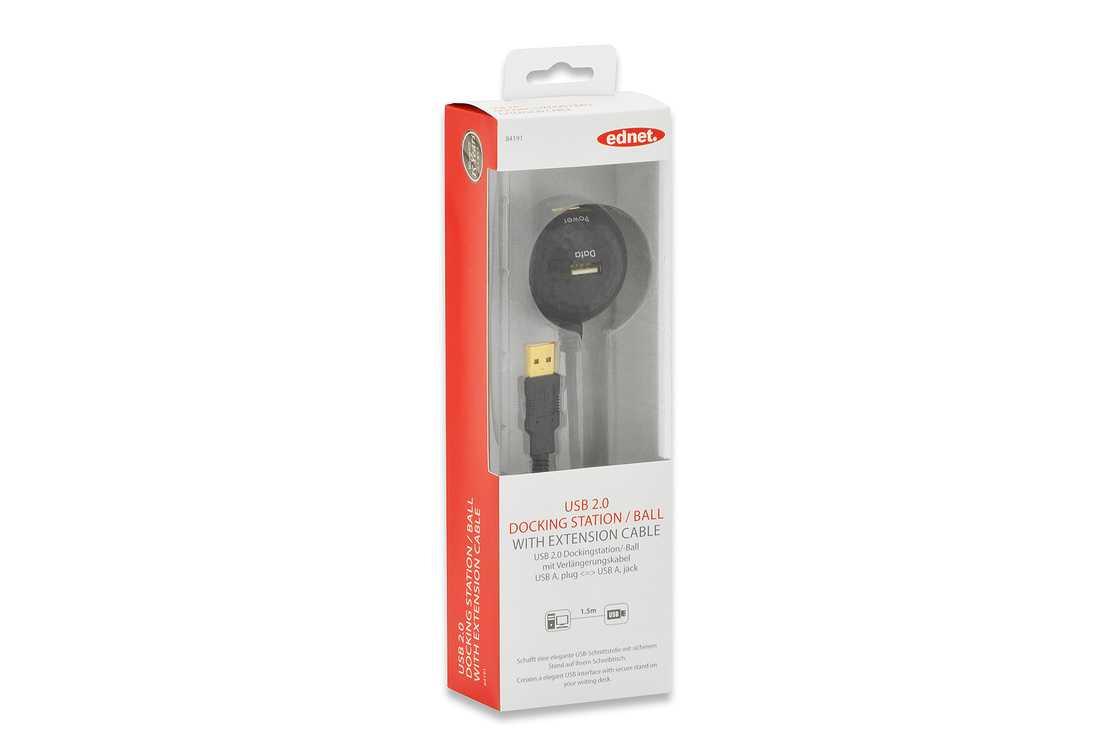 STATION D ACCUEIL USB M/F AVEC RALLONGE USB2.0 TYPE A 1.5M GOLD 84191-1