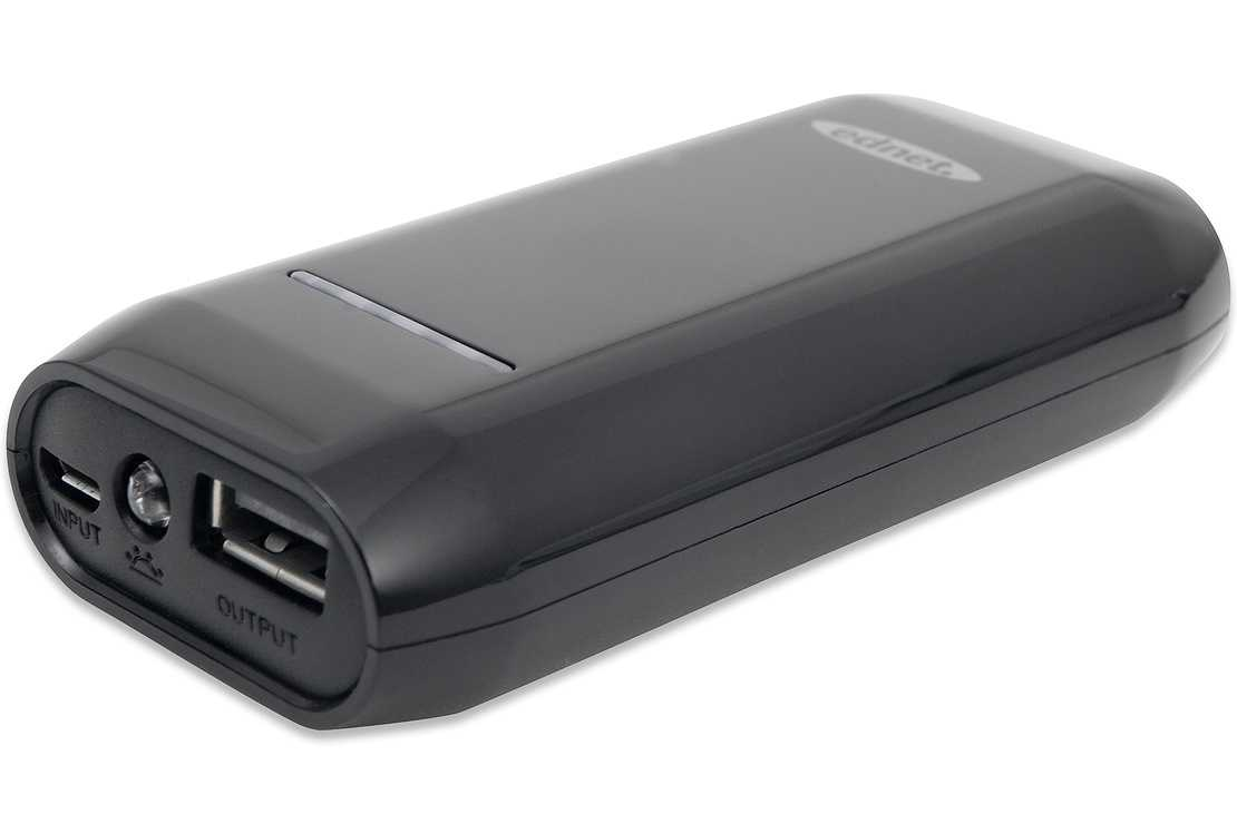 POWER BANK 4400 MAH 1A COMPACT SMARTPHONE TABLETTE NOIR 0