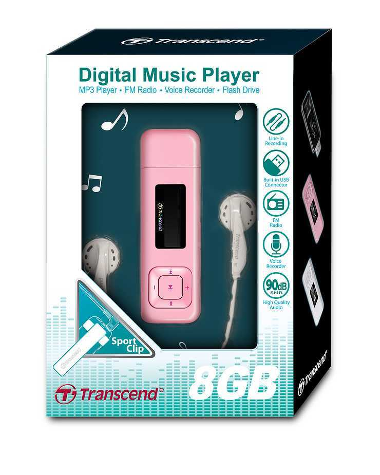 LECTEUR MP3 MP330 8GO - USB 2.0 ROSE mp3308gpinkcolorbox