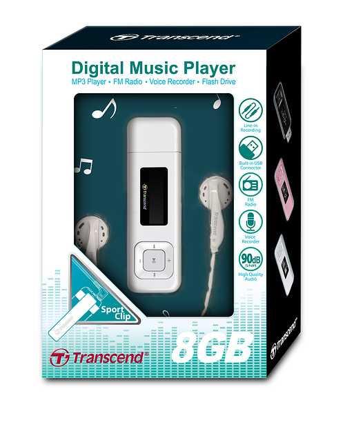 LECTEUR MP3 MP330 8GO - USB 2.0 BLANC mp3308gwhitecolorbox
