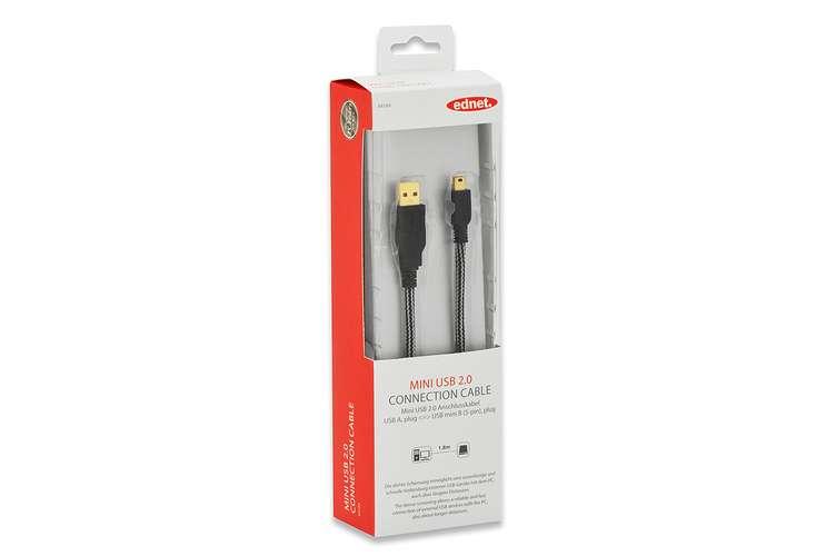 CORDON USB USB 2.0 A/M - MINI USB B/M 1.80M GOLD 84184-2