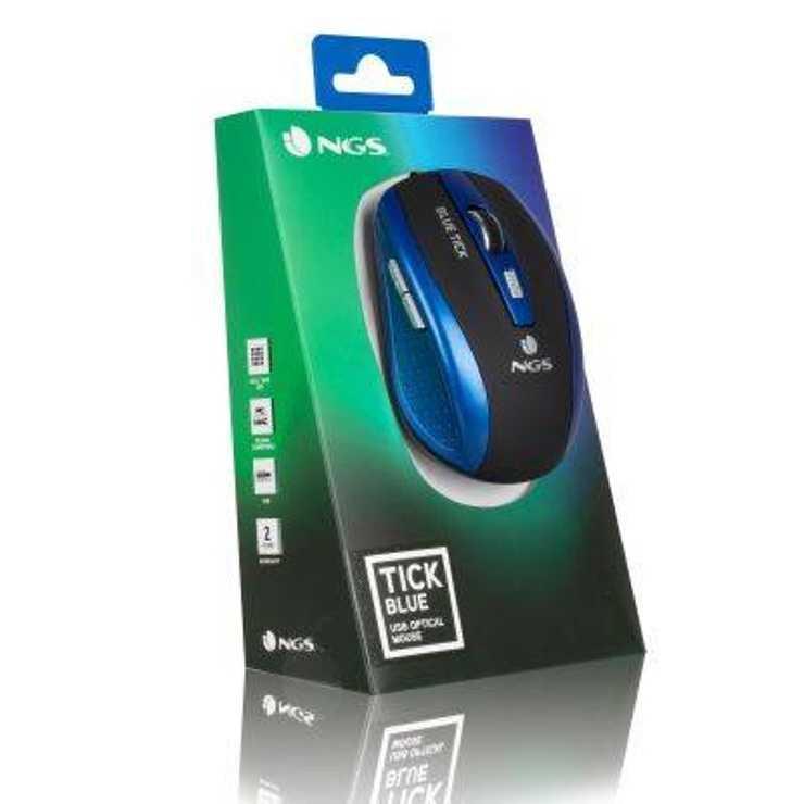 SOURIS BLUETICK FILAIRE OPTIQUE USB PC BLEU ngstickbluenewpack021